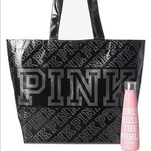 VS Pink S'well Bottle and Tote